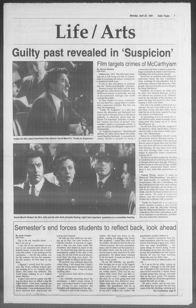 Daily Trojan, Vol. 114, No. 64, April 22, 1991