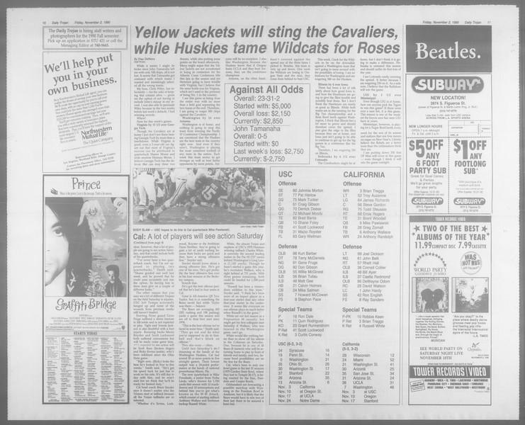 Daily Trojan, Vol. 113, No. 43, November 02, 1990
