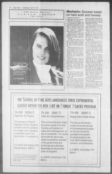 Daily Trojan, Vol. 114, No. 56, April 10, 1991