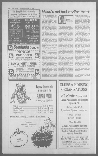 Daily Trojan, Vol. 113, No. 28, October 11, 1990