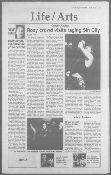 Daily Trojan, Vol. 113, No. 30, October 16, 1990
