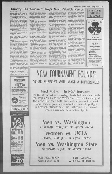 Daily Trojan, Vol. 114, No. 37, March 06, 1991