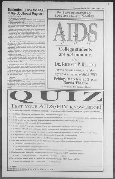 Daily Trojan, Vol. 114, No. 37, March 06, 1991