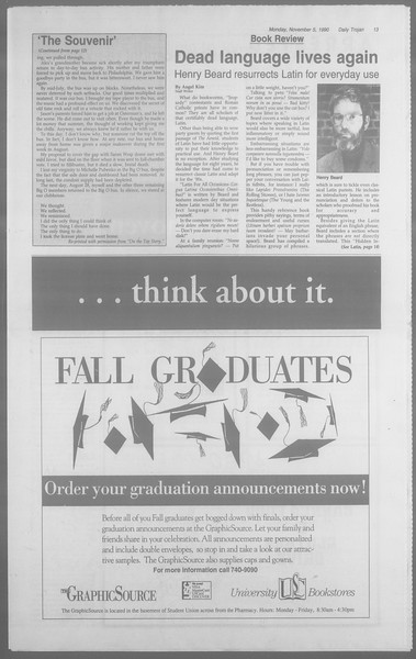 Daily Trojan, Vol. 113, No. 44, November 05, 1990