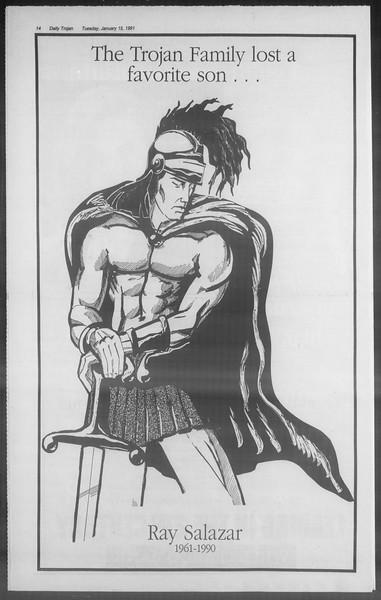 Daily Trojan, Vol. 114, No. 5, January 15, 1991