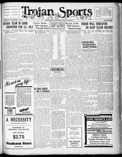 Southern California Daily Trojan, Vol. 21, No. 38, November 07, 1929