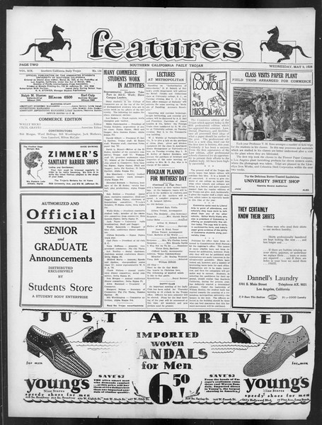 Daily Trojan, Vol. 19, No. 130, May 09, 1928