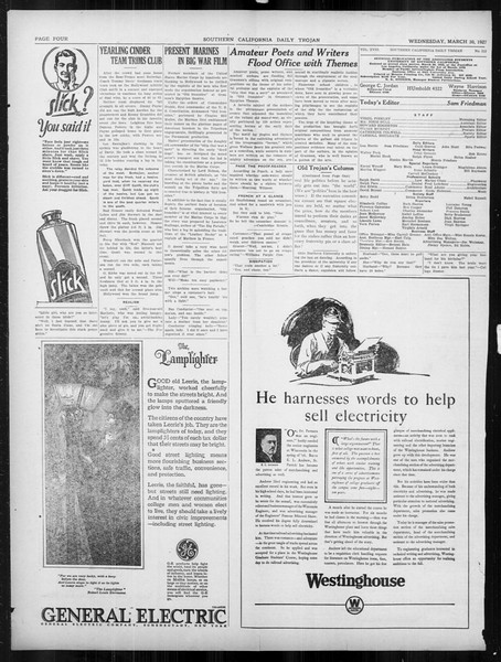 Daily Trojan, Vol. 18, No. 112, March 30, 1927