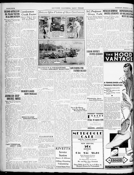 Southern California Daily Trojan, Vol. 21, No. 94, March 04, 1930