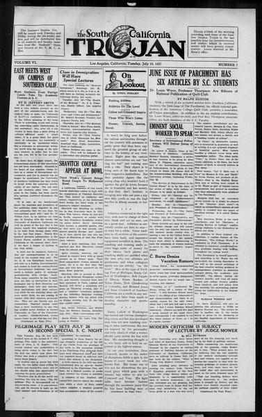 The Southern California Trojan, Vol. 6, No. 7, July 19, 1927
