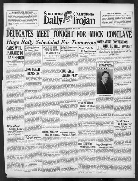 Daily Trojan, Vol. 19, No. 126, May 03, 1928