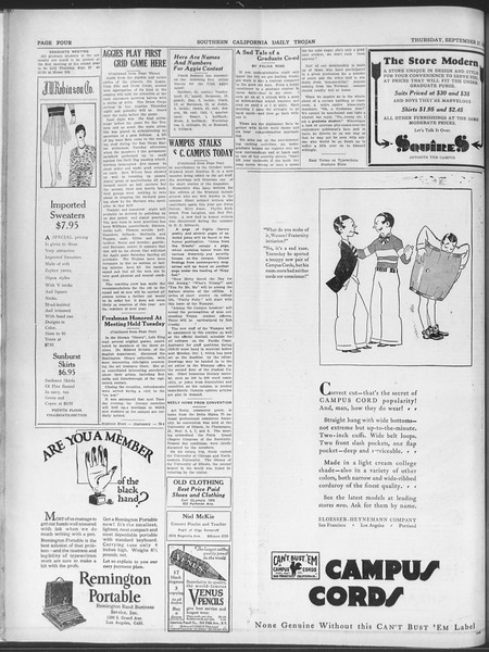 Daily Trojan, Vol. 20, No. 1, September 10, 1928