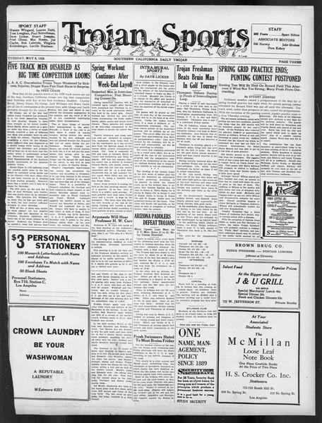 Daily Trojan, Vol. 19, No. 129, May 08, 1928