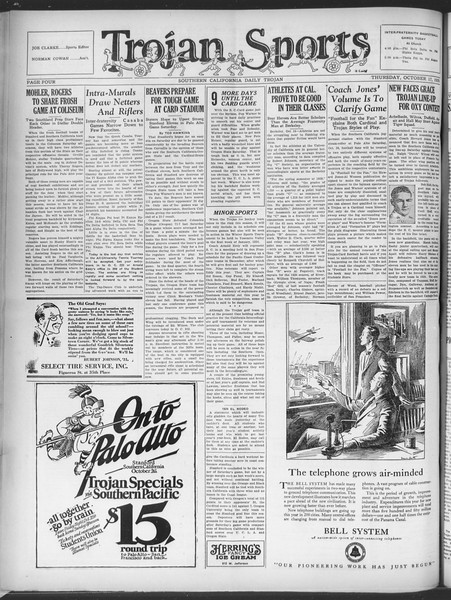 Southern California Daily Trojan, Vol. 21, No. 23, October 17, 1929