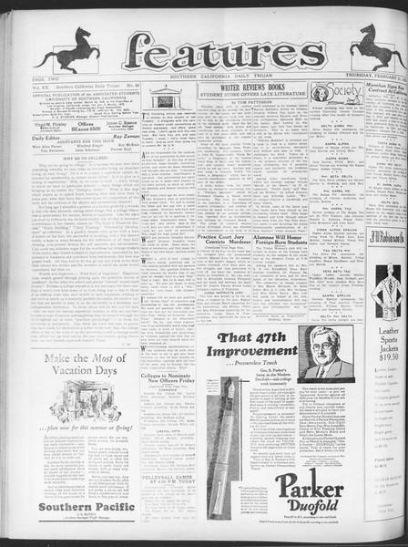 Daily Trojan, Vol. 20, No. 88, February 21, 1929