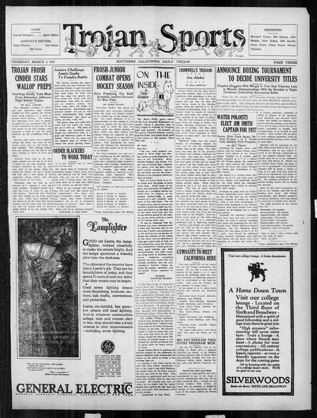 Daily Trojan, Vol. 18, No. 93, March 03, 1927