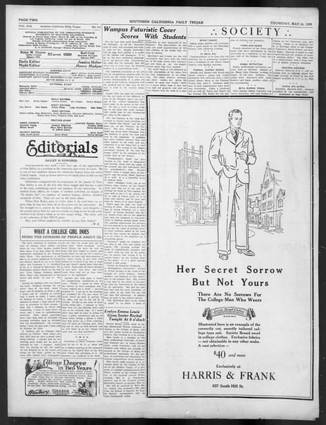 Daily Trojan, Vol. 19, No. 141, May 24, 1928