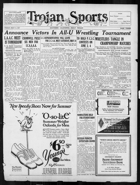 Daily Trojan, Vol. 18, No. 137, May 13, 1927