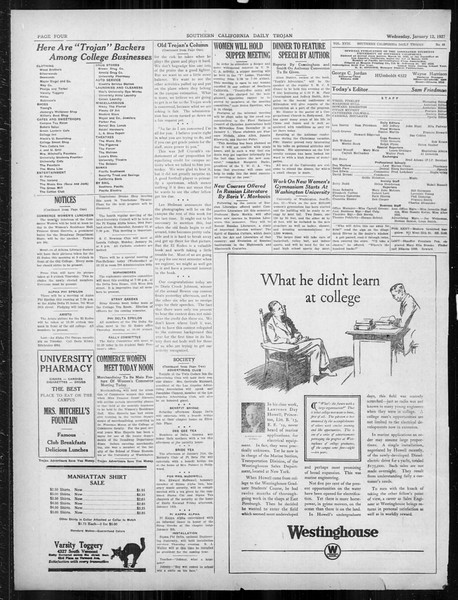 Daily Trojan, Vol. 18, No. 69, January 12, 1927