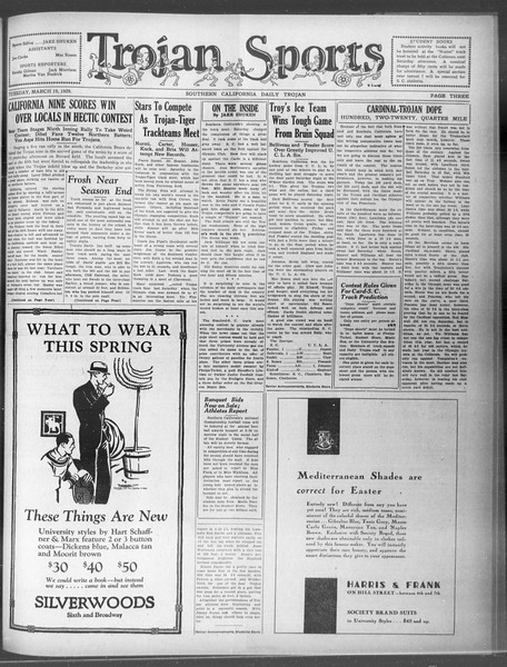 Daily Trojan, Vol. 20, No. 107, March 19, 1929