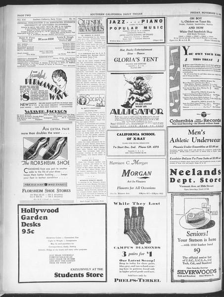 Southern California Daily Trojan, Vol. 21, No. 43, November 15, 1929