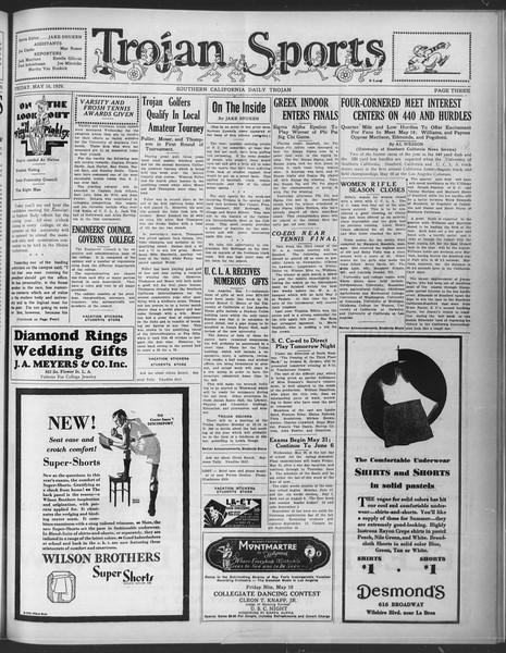 Daily Trojan, Vol. 20, No. 138, May 10, 1929
