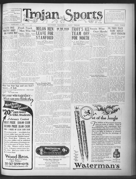 Daily Trojan, Vol. 20, No. 83, February 14, 1929