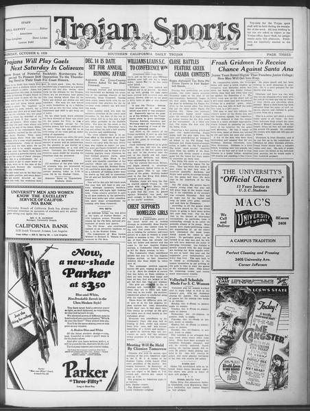 Daily Trojan, Vol. 20, No. 17, October 08, 1928