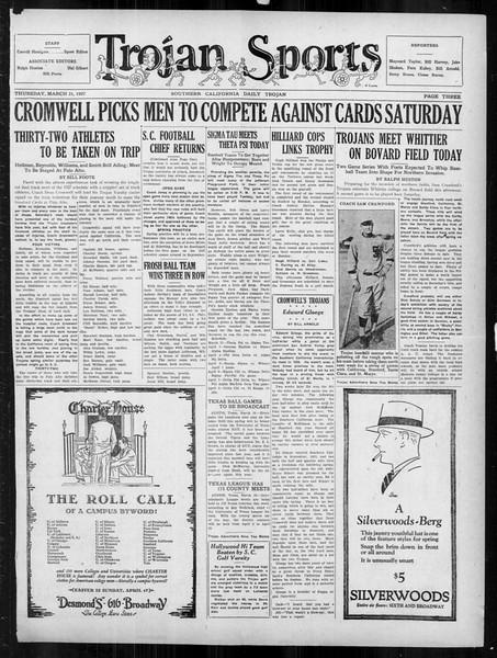 Daily Trojan, Vol. 18, No. 113, March 31, 1927
