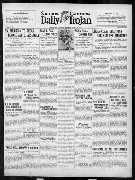 Daily Trojan, Vol. 18, No. 102, March 16, 1927