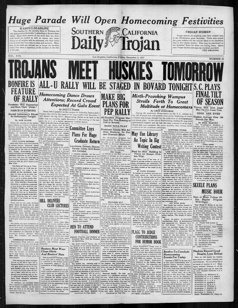 Daily Trojan, Vol. 19, No. 50, December 02, 1927