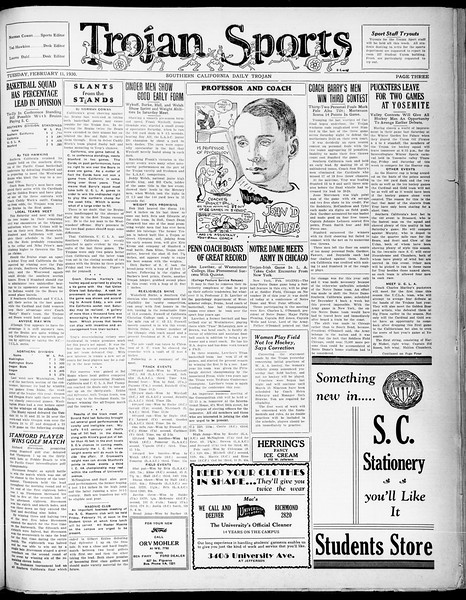 Southern California Daily Trojan, Vol. 21, No. 79, February 11, 1930