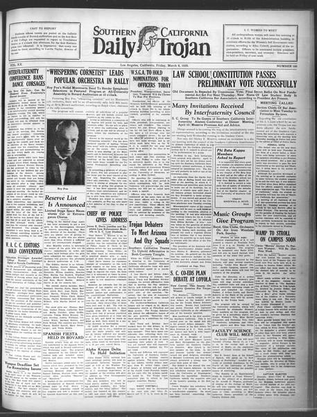 Daily Trojan, Vol. 20, No. 100, March 08, 1929