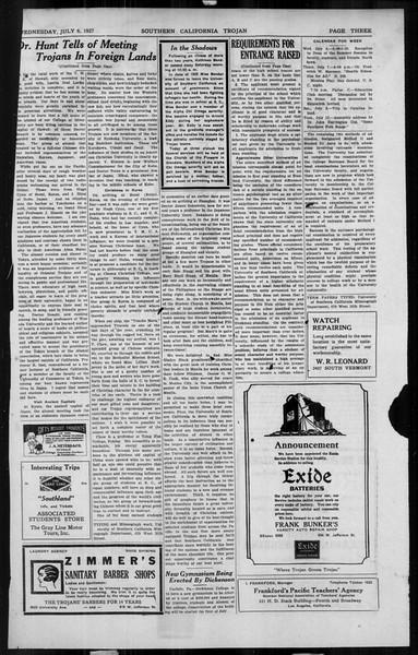 The Southern California Trojan, Vol. 6, No. 3, July 06, 1927