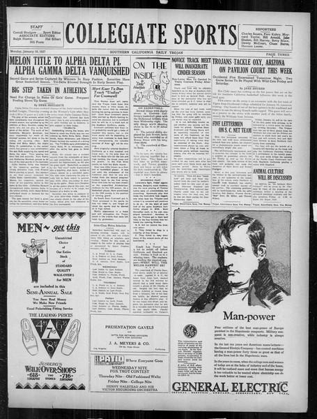 Daily Trojan, Vol. 18, No. 67, January 10, 1927