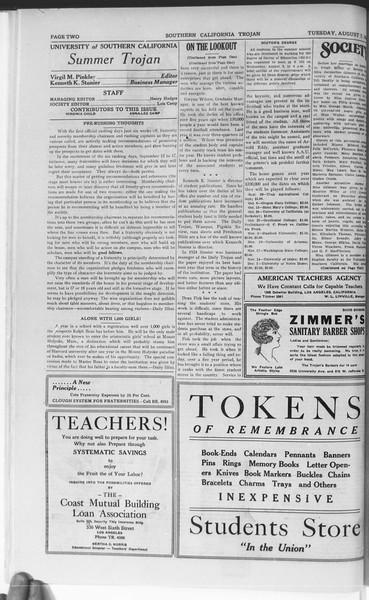 Trojan, Vol. 7, No. 11, August 07, 1928
