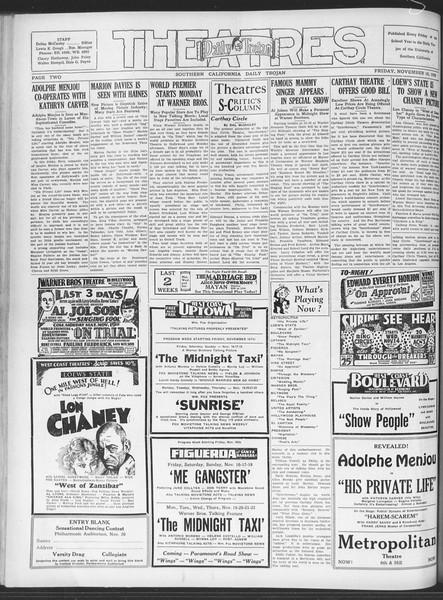 Daily Trojan, Vol. 20, No. 45, November 16, 1928