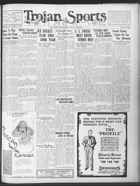 Daily Trojan, Vol. 20, No. 121, April 17, 1929