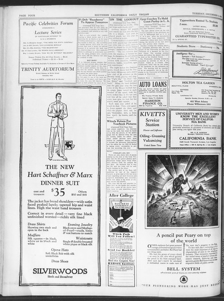 Daily Trojan, Vol. 20, No. 54, December 04, 1928