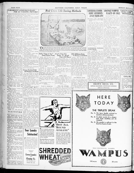 Southern California Daily Trojan, Vol. 21, No. 146, May 26, 1930