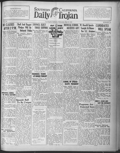Daily Trojan, Vol. 20, No. 141, May 15, 1929