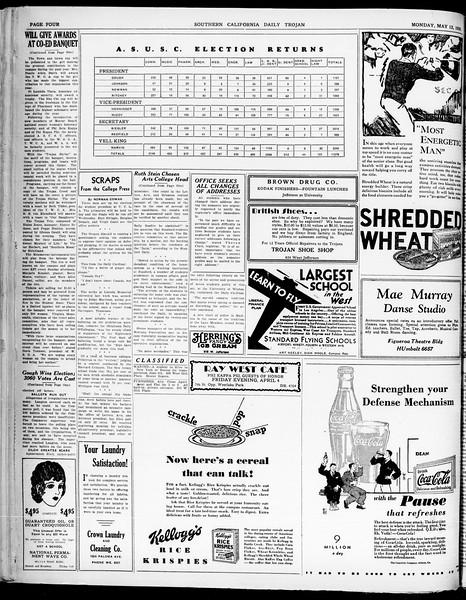 Southern California Daily Trojan, Vol. 21, No. 136, May 12, 1930