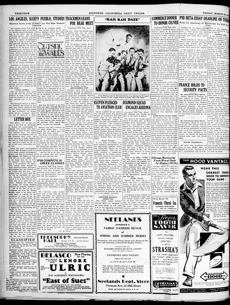 Southern California Daily Trojan, Vol. 21, No. 112, March 28, 1930