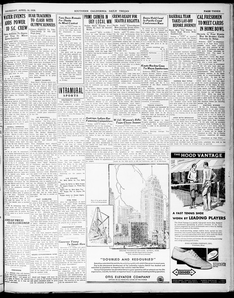 Southern California Daily Trojan, Vol. 21, No. 121, April 10, 1930