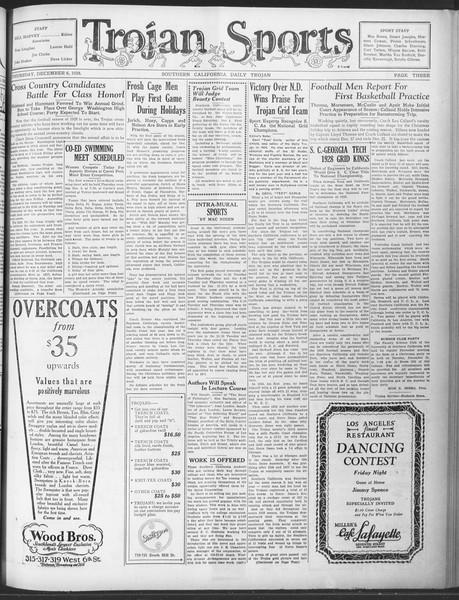 Daily Trojan, Vol. 20, No. 55, December 06, 1928