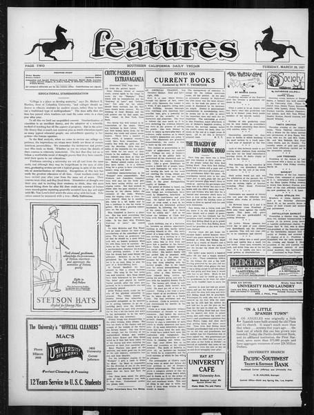 Daily Trojan, Vol. 18, No. 111, March 29, 1927