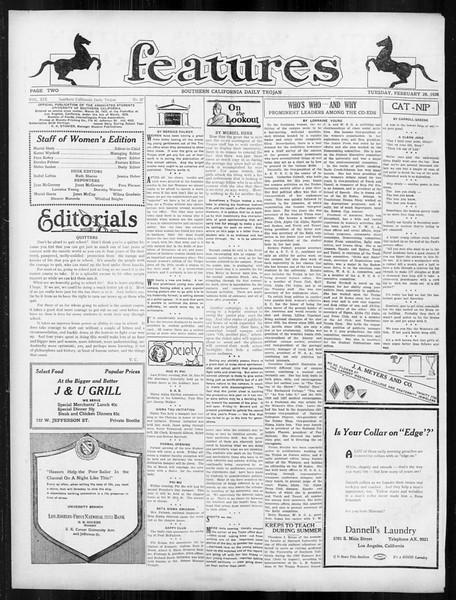 Daily Trojan, Vol. 19, No. 87, February 28, 1928