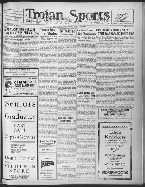 Daily Trojan, Vol. 20, No. 150, May 28, 1929