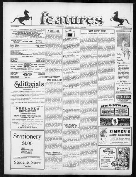 Daily Trojan, Vol. 19, No. 111, April 12, 1928