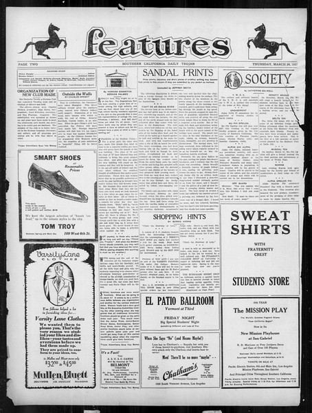 Daily Trojan, Vol. 18, No. 108, March 24, 1927
